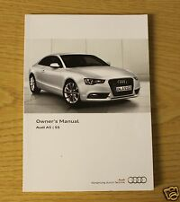 Audi A5 S5 COUPE ET SPORTBACK Manuel Owners Manual 2011-2016 Main Livre
