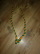 LANYARD BRITISH MILITARY ISSUE YELLOW AND GREEN NEW NO LABELS