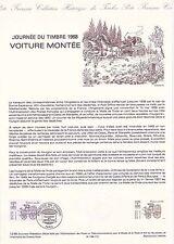 Document Philatélique Timbre 1er Jour : 12/03/ 1988 - Journée du Timbre Voiture