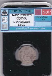 SAXE COBURG GOTHA 6 KREUZER 1828