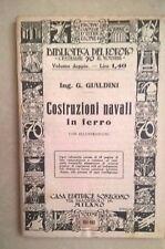 COSTRUZIONI NAVALI IN FERRO ING. GIALDINI NAVI BIBLIOTECA DEL POPOLO 1924