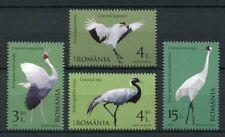 Romania 2018 MNH Cranes Migratory Birds Japanese Crane 4v Set Stamps