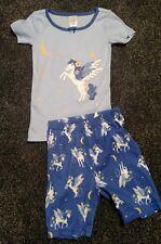 Gymboree Girls Unicorn Gymmies Pajamas PJs Size 4 Shirt Shorts NWT