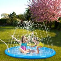 67inch Sprinkle Splash Play Mat for Kids Toddlers Inflatable Outdoor Water Pool