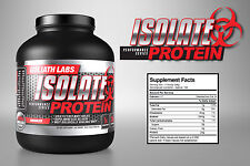 Goliath Labs 100% Whey Protein Isolate powder 10lbs Chol-Van ALL Flavors