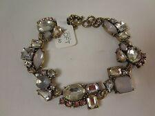 Ann Taylor LOFT Silver Crsytal Cluster Link Bracelet NWT $29.50