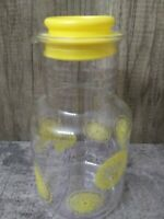 Pyrex 3520 Lemonade Lemon Slices 2 Quart Juice Pitcher Carafe Decanter