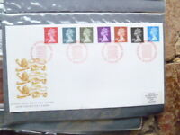 1989 ROYAL MAIL  NEW DEFINITIVES RATES 7 STAMPS FIRST DAY COVER RED POSTMARK