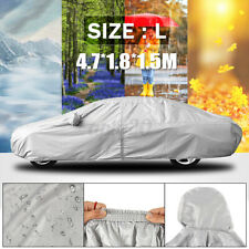 L Size Full Car Cover Waterproof Rain Scratch Protection Dustproof Universal Fit