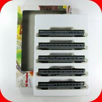 N Scale UP UNION PACIFIC OVERLAND Heavy Passenger Car 5-Pack Set -CON-COR 004026