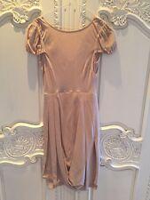 LISA HO Silk Beige Dress  - size 6