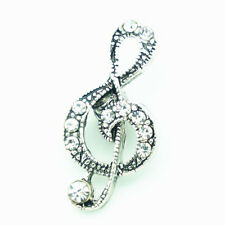 3DCrystal Musical Chunk Charm Snap Button Fit For Noosa Necklace/Bracelet Clear