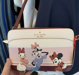 Kate Spade Disney Clarabelle & Friends Crossbody Leather Handbag NWT Minnie