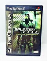 Tom Clancy's Splinter Cell Ps2 Sony Playstation 2 CIB