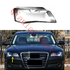 Right Side Clear Headlight Cover With Glue For Audi A8 D4 2011-2014