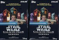 (4) 2017 Topps Star Wars Galatic Files Reborn Trading Cards 61ct Blaster Box LOT