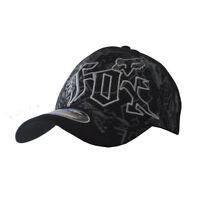 NWT Fox Men's Ball Sport Cap/Hat S/M Size FlexFit Black #011 Xmas Gift