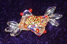 RARE 1960's Murano Art Glass Millefiori Double Frog Good Luck Statue