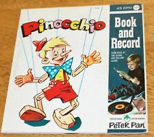 Peter Pan: Pinocchio Book & Record Set #1946 - Vintage Guc - 45 Rpm
