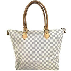100% Authentic Louis Vuitton Damier Azur Saleya GM N51184 [Used] {05-198B}
