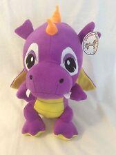 "Caravan Soft Toys Purple/Yellow Baby Dragon 12"" Plush Stuffed Animal"