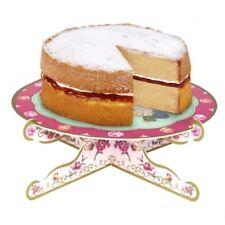 Cake Stand Vintage High Tea Floral Roses, Pink, Purple 27cm (B5)