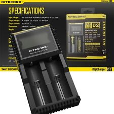 Nitecore D2 Charger DigiCharger for AA AAA C 18650 14500 18350 16340 10400
