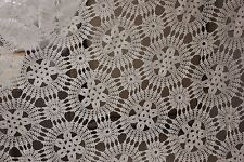 Vintage French hand-made coverlet curtain drape etc 86X97 inches ~ lace