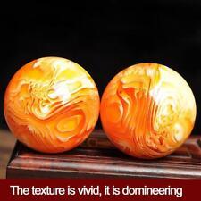 Seltene natürliche Kunst Ball Kristall Kugel Gold Healing Amber Bienenwachs /h