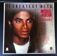 Michael Jackson Plus The Jacksons. 18 Greatest Hits. Telstar Vinyl LP. VGC.