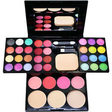 Portable Warm Colors Matte Shimmer Eyeshadow Palette Makeup Set + Brush Mirrors