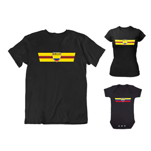 Adults or Kids COLOMBIA Retro Strip Copa America Football T-Shirt Tee Colombian