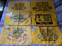 47 Item: 46 Terrible Towels And 1 XL T-shirt Lot Pittsburgh Steelers Myron Cope