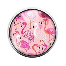 Candy Snap Charm Gd0506 Flamingo - 18Mm Glass Dome