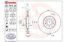 2x BREMBO Discos de Freno Traseros Ventilación interna Para AUDI 09.7010.21