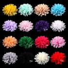 """30pcs 4"""" Fluffy Artificial Fabric Chiffon Flower For Hair Accessories"""