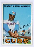 1967 Topps #87 George Altman Chicago Cubs Baseball Card