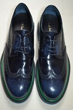 """Paul Smith """"CRISPIN"""" Navy High Shine Leather Brogues UK 9 US 10 New"""