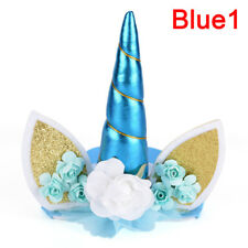 Glitter unicornio cuerno diadema niños unicornio Party accesorios de peH4