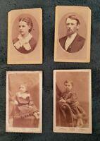Civil War/Victorian CDVs of *Swift* *Wilkinson* Family! 4 CDVs. Detroit, Mich.