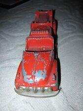 Vintage Hubley Kiddie Toy #468 red painted metal fire truck, Lancaster PA