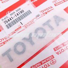 GENUINE TOYOTA SUPRA TURBO 93-98 REAR LIFT-GATE BLACK EMBLEM DECAL 75441-14190