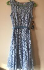 1ebeb070 Chetta B NEW Blue Women's Size 4 Lace Fit and Flare Dress Bluebell Free  shipping