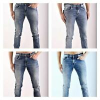Men's REPLAY ANBASS Skinny Frayed Ripped Jeans Size 30 to 38 Blue colour 4 Types