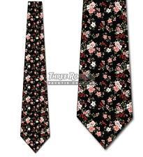 Spring Ties Mens Floral Necktie Pink Flower Necktie Wedding Ties