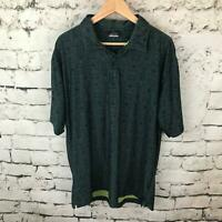 Nike Golf Mens Sz L Shirt Gray Dri-Fit Short Sleeve Polo