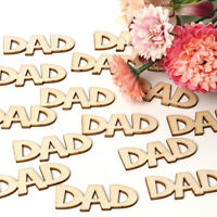 DAD MOM Laser Cut Wooden Slice Mother's Day Wood DIY Crafts Hanging Ornaments