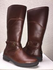UGG EVANNA STOUT LEATHER RIDING WATER RESISTANT BOOT US 11 / EU 42 / UK 9.5 NEW