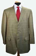 Gian Luca Isaia Sorrento Wool Silk Plaid Check Dual Vent Sport Coat 44 L Napoli