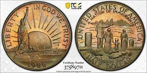 1986S USA STATUE OF LIBERTY HALF DOLLAR PCGS PR66CAM 7th FINEST KNOWN WORLD WIDE